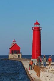 Grand Haven Lighthouse (pier under re-construction)