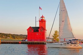 Holland Harbor Lighthouse, Evening