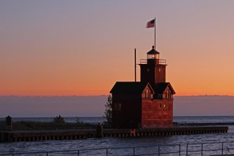Holland Harbor Lighthouse Sunset