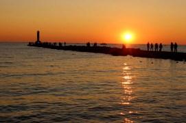 Holland Harbor Pier Sunset