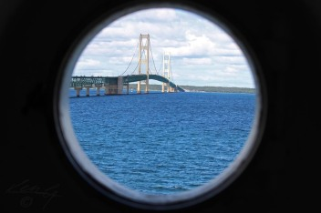 Mackinac Bridge from The Old Mackinac Lighthouse