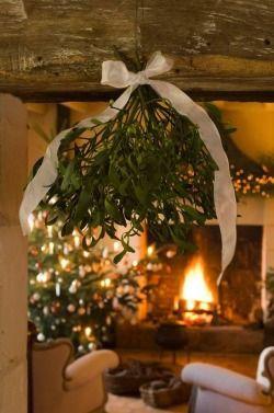 under mistletoe