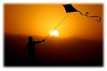 on the wings of a kite